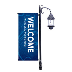 Flourish Welcome Light Pole Banners