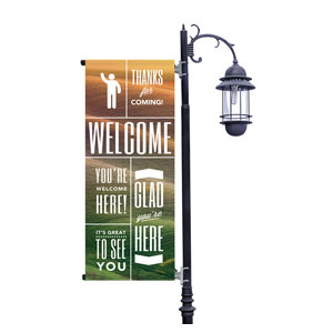 Phrases Welcome Light Pole Banners