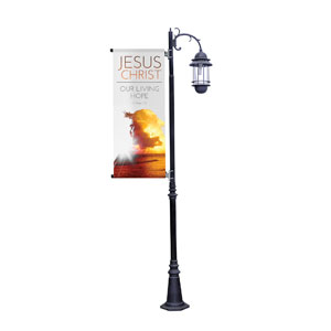 Jesus Christ Living Hope Light Pole Banners