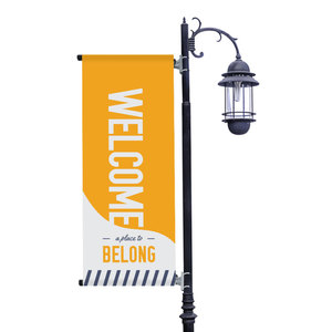 To Belong Yellow Light Pole Banners