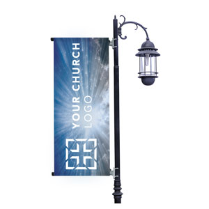 Sunrays Logo Light Pole Banners