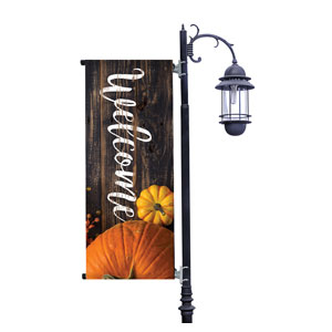Pumpkins Youre Invited Light Pole Banners