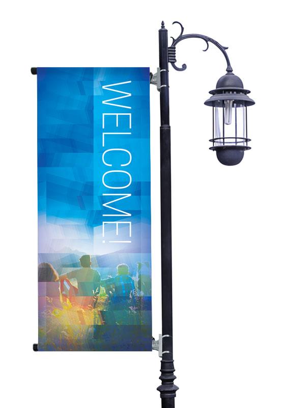 Modern Mosaic Welcome Banner Church Banners Outreach