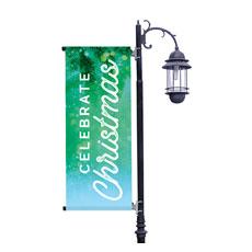 Celebrate Christmas Green Banner