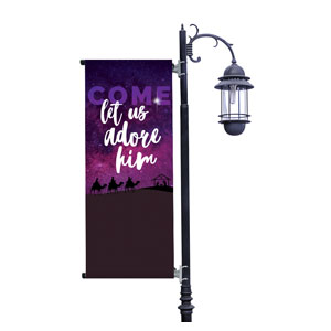 Come Let Us Adore Light Pole Banners