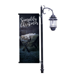 Simplify Christmas Manger Light Pole Banners