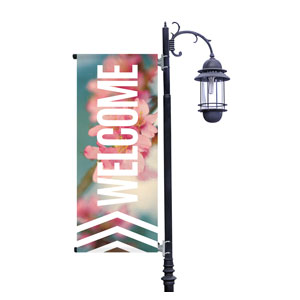 Chevron Welcome Spring Light Pole Banners