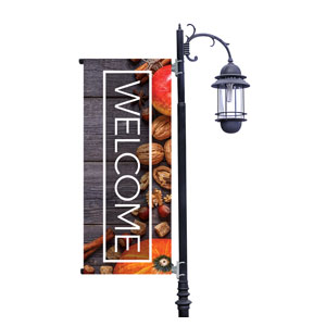 Wooden Slats Fall Light Pole Banners