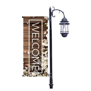 Wooden Slats Spring Light Pole Banners