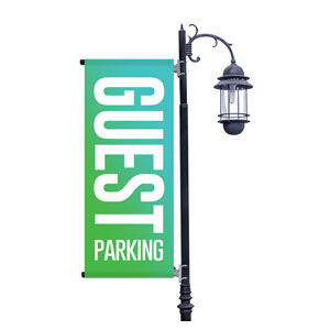 Guest Parking Greens Light Pole Banners