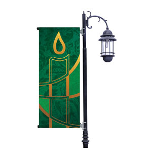 Christmas Candle Green Banners