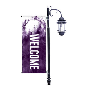 Purple Powder Crown Light Pole Banners