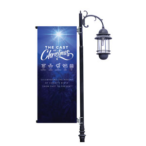 The Cast of Christmas Light Pole Banners