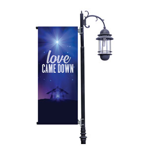 Aurora Lights Christmas Light Pole Banners