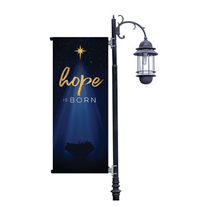 Christmas Star Hope is Born Light Pole Banners