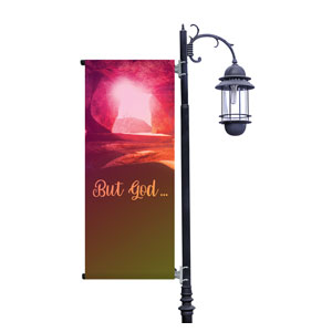 But God Light Pole Banners
