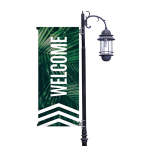 Chevron Palm Invited Light Pole Banners