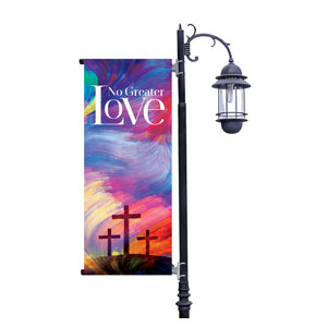 No Greater Love Light Pole Banners