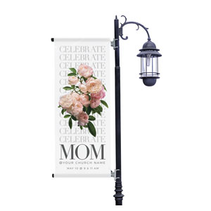 Celebrate Mom Flowers Light Pole Banners