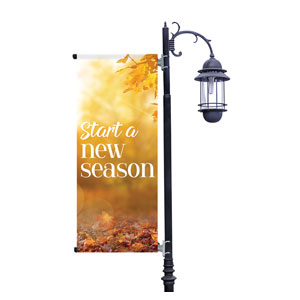 New Season Flare Light Pole Banners
