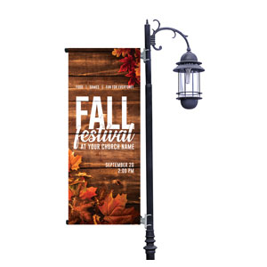 Rustic Fall Festival Light Pole Banners