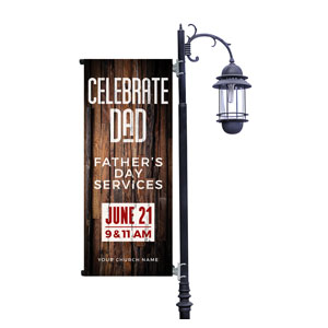 Dimensional Wood Father's Day Light Pole Banners