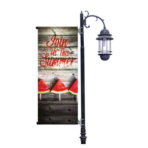 Summer Watermelon Events Light Pole Banners