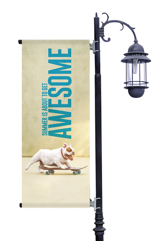 Banners, Summer - General, Awesome Summer Dog, 2' x 5'