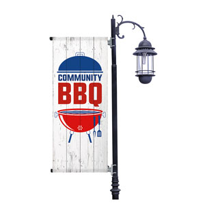 Summer BBQ Light Pole Banners