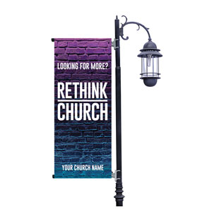 Rethink Church Bricks Light Pole Banners