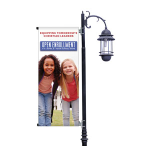 Kids Enroll Together Light Pole Banners