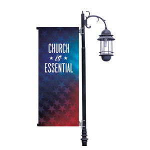 Stars Church is Essential Light Pole Banners