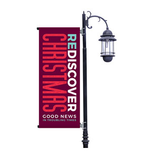 ReDiscover Christmas Advent Contemporary Light Pole Banners