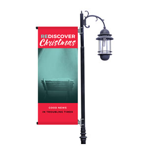 ReDiscover Christmas Advent Manger Light Pole Banners