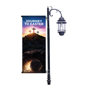 Journey To Easter Light Pole Banners