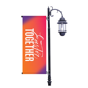 Easter Together Hues Light Pole Banners