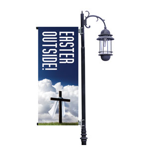Easter Outside Light Pole Banners