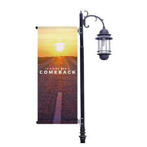 Comeback Sunrise Light Pole Banners