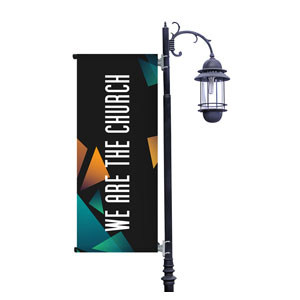 We Are The Church Light Pole Banners