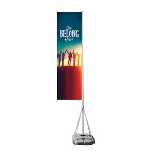 BTCS You Belong Here Mega Flag