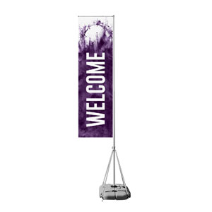 Purple Powder Crown Mega Flag