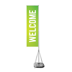 Welcome Lime Green Mega Flag