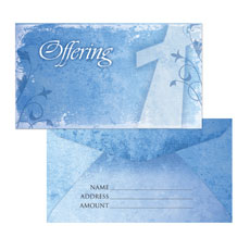 Vintage Blue Offering Envelope