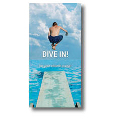 Dive In XLarge Postcard