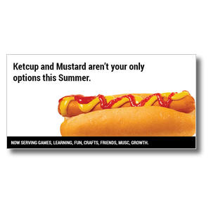 "Hot Dog 11 x 5.5 Oversized Postcard 11"" x 5.5"" Oversized Postcards"