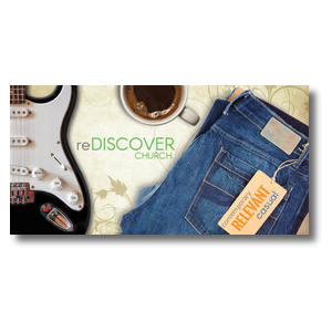 "ReDiscover Church Coffee 11 x 5.5 Oversized Postcard 11"" x 5.5"" Oversized Postcards"