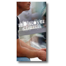 reDiscover Church XLarge Postcard