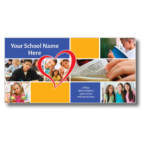 "Love to Learn 11 x 5.5 Oversized Postcard 11"" x 5.5"" Oversized Postcards"