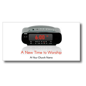 "New Time to Worship 11 x 5.5 Oversized Postcard 11"" x 5.5"" Oversized Postcards"