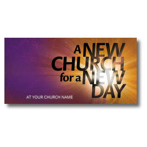 "New Church 11 x 5.5 Oversized Postcard 11"" x 5.5"" Oversized Postcards"